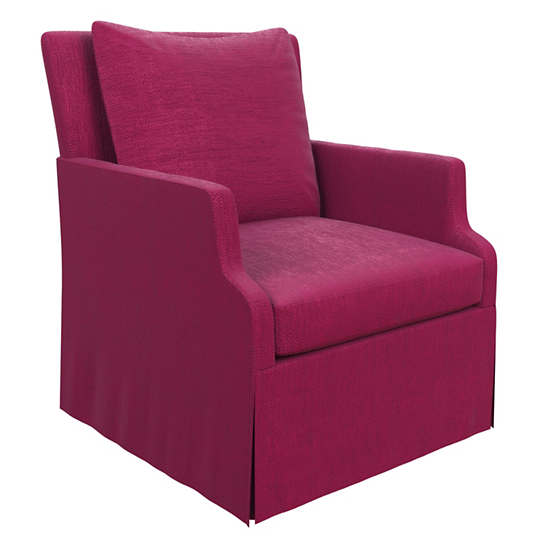 Plush Velvet Claret Aix Chair