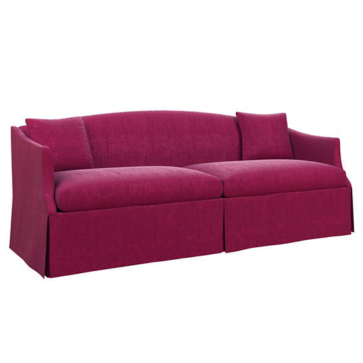 Plush Velvet Claret Avignon Sofa