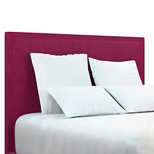 Plush Velvet Claret Colebrook Whitewash Headboard