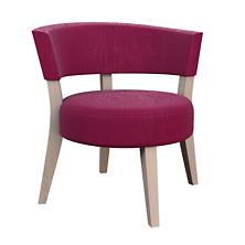 Plush Velvet Claret Crescent Chair