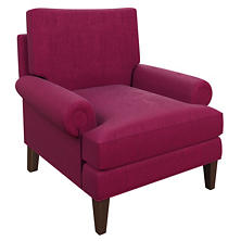 Plush Velvet Claret Easton Chair