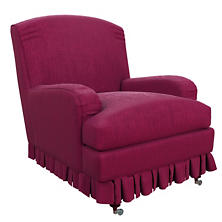 Plush Velvet Claret Ellis Chair