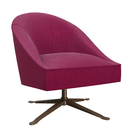 Plush Velvet Claret Embrace Chair