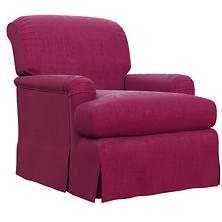 Plush Velvet Claret Longford Chair