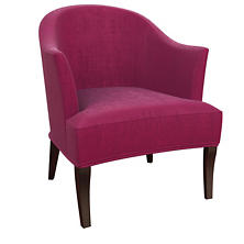 Plush Velvet Claret Lyon Chair