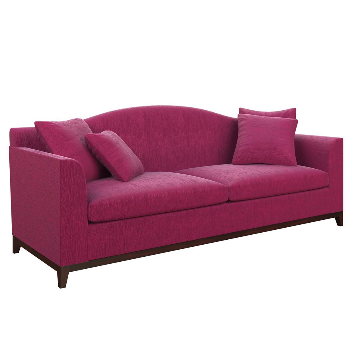Plush Velvet Claret Marseille Sofa