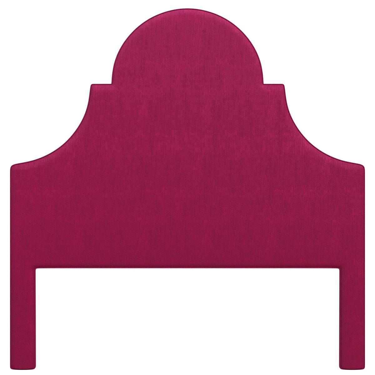 Plush Velvet Claret Montaigne Headboard