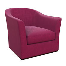 Plush Velvet Claret Thunderbird Chair