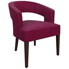 Plush Velvet Claret Wright Chair