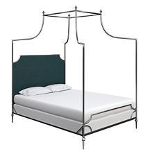 Plush Velvet Sapphire Hayden Bed
