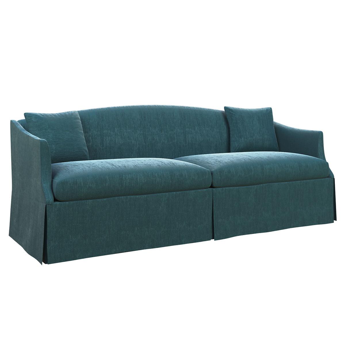 Plush Velvet Sapphire Avignon Sofa