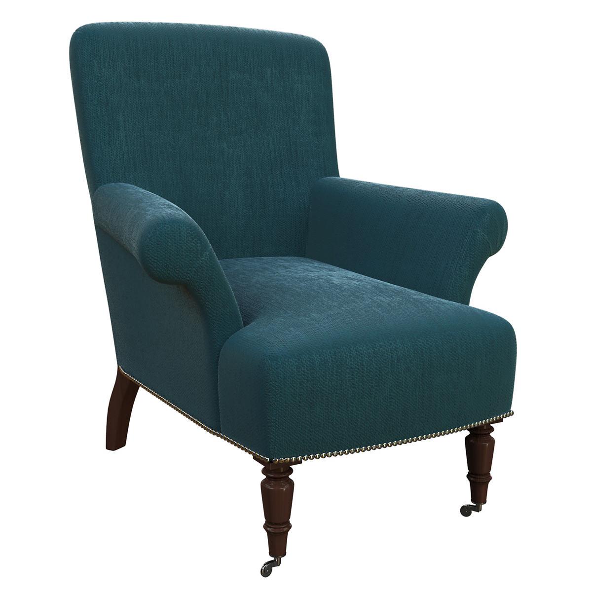 Plush Velvet Sapphire Barrington Chair