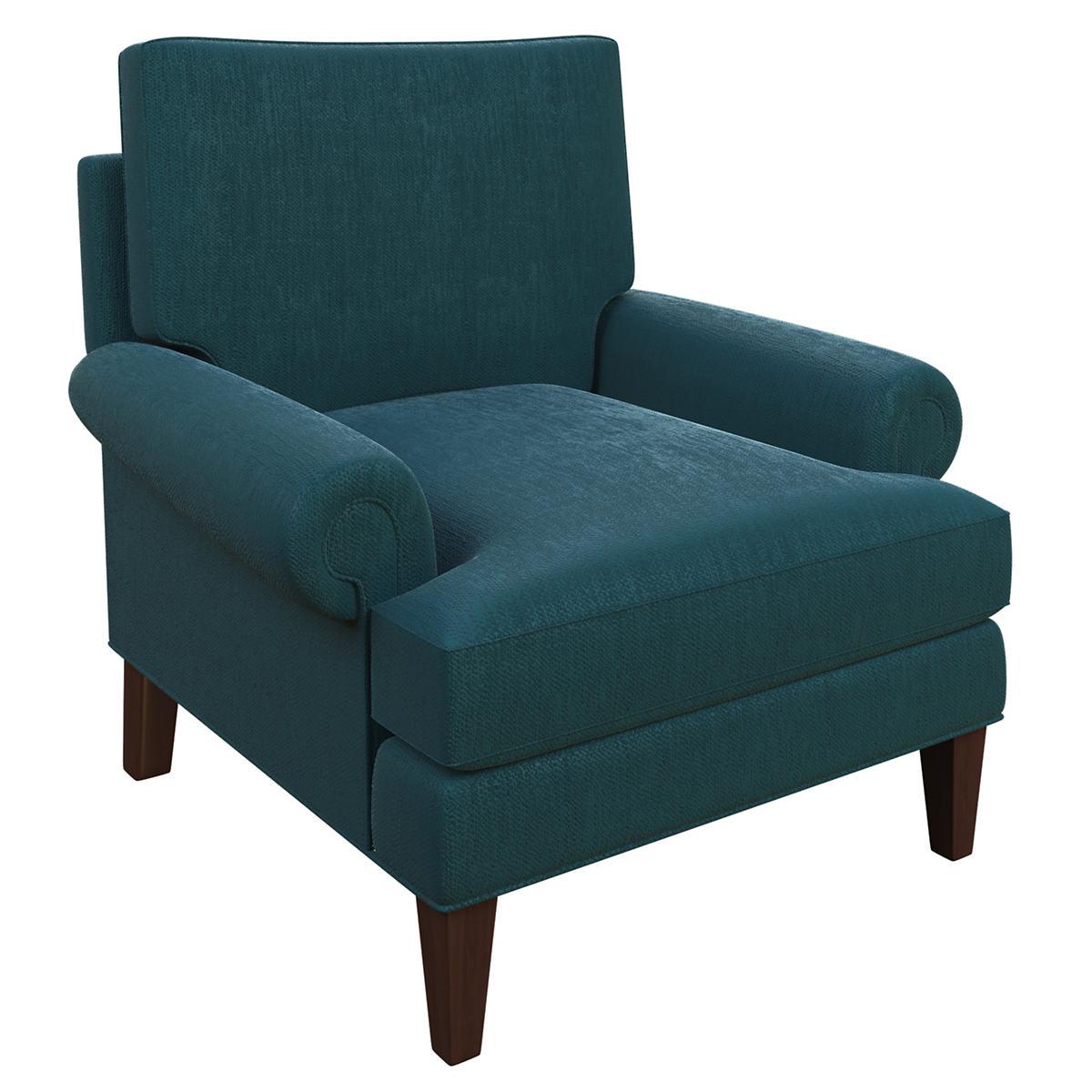 Plush Velvet Sapphire Easton Chair