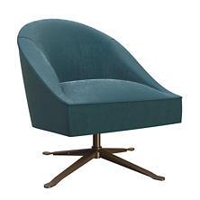 Plush Velvet Sapphire Embrace Chair
