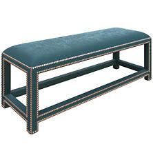 Plush Velvet Sapphire Lexington Bench