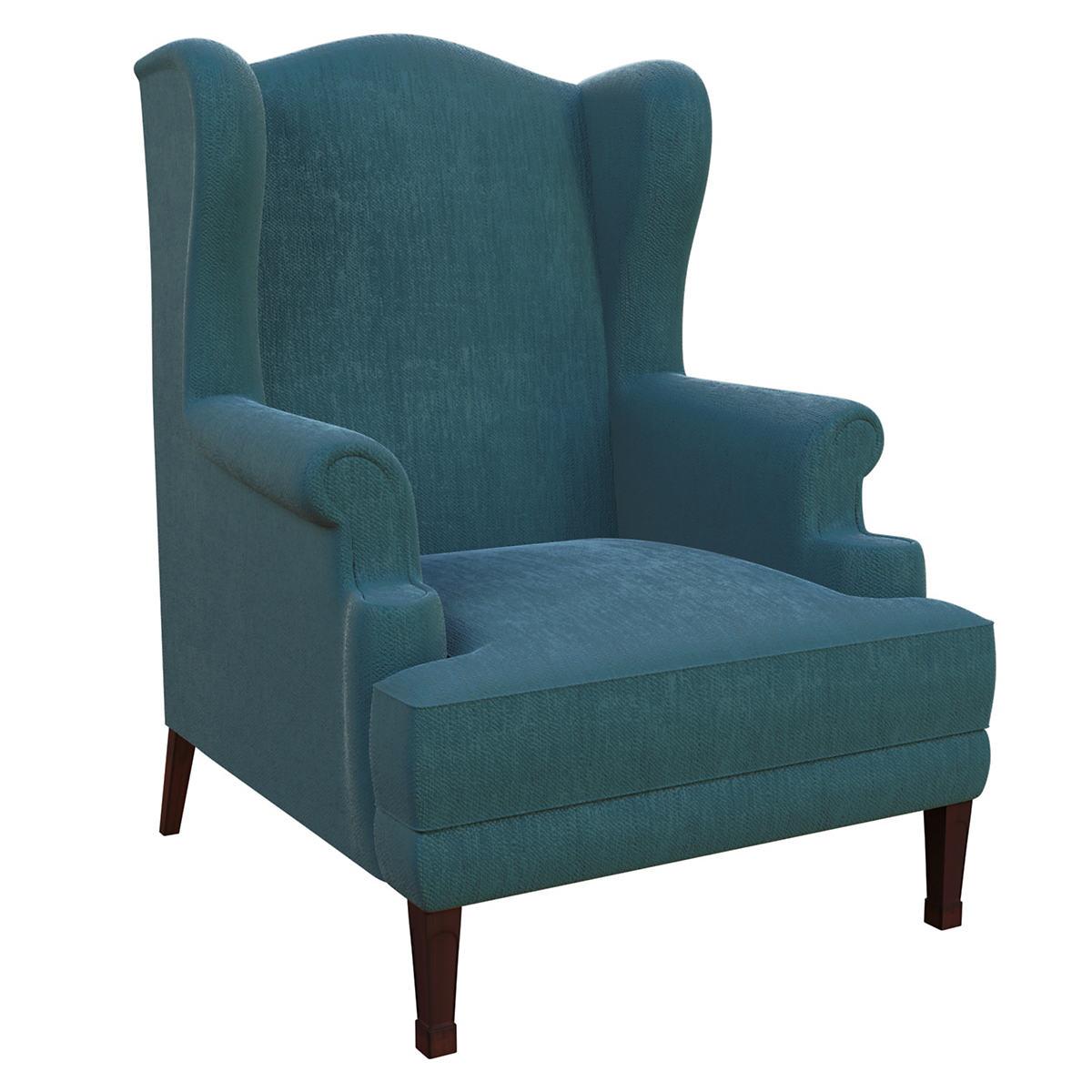 Plush Velvet Sapphire Lismore Chair