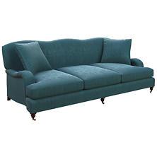 Plush Velvet Sapphire Litchfield 3 Seater Sofa