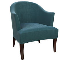 Plush Velvet Sapphire Lyon Chair
