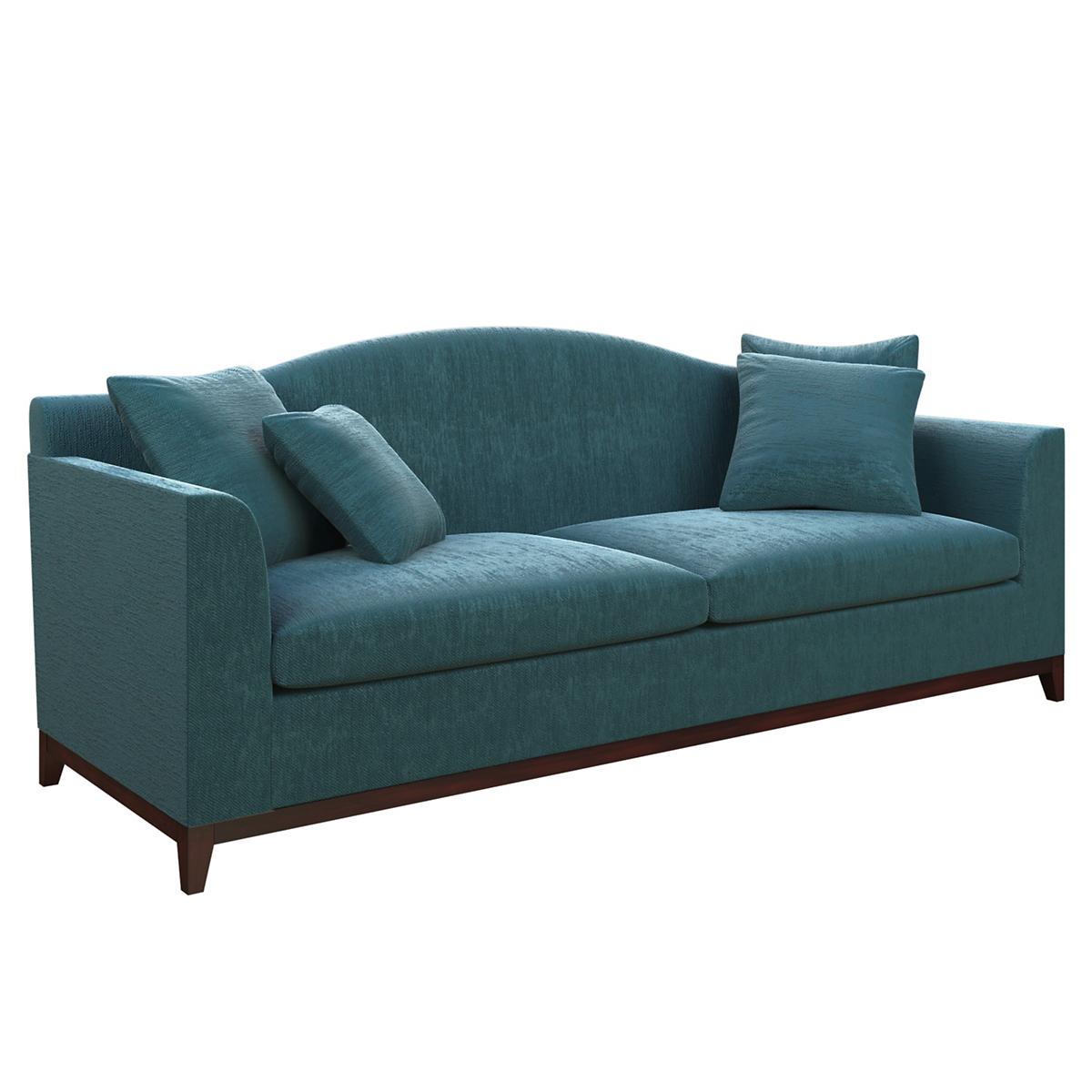 Plush Velvet Sapphire Marseille Sofa