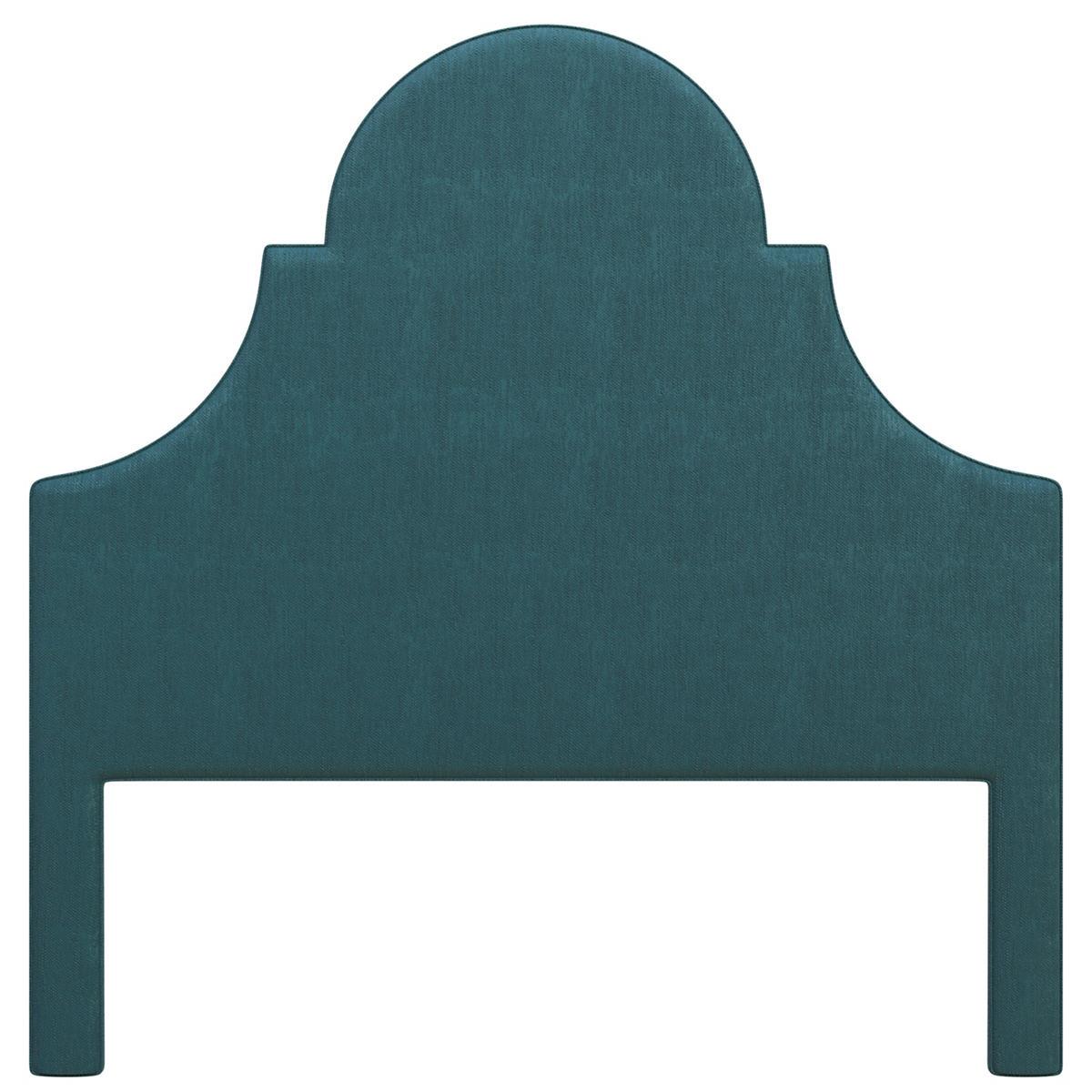 Plush Velvet Sapphire Montaigne Headboard
