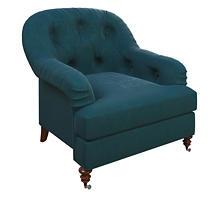 Plush Velvet Sapphire Norfolk Chair