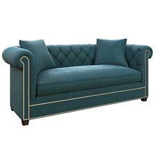 Plush Velvet Sapphire Richmond Sofa