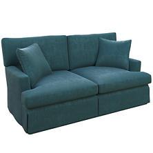 Plush Velvet Sapphire Saybrook 2 Seater Upholstered Sofa