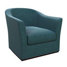 Plush Velvet Sapphire Thunderbird Chair