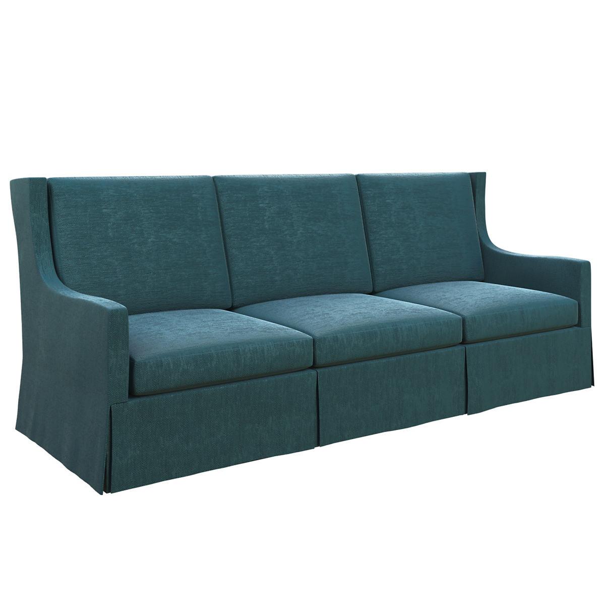 Plush Velvet Sapphire Toulouse Sofa