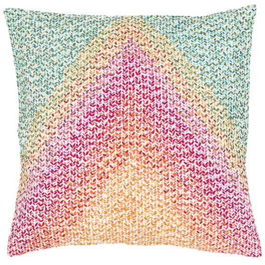 Pointillism Embroidered Decorative Pillow