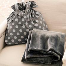 Polka Dot Shale/Silver Gift Bag