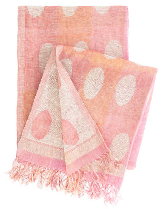 Polka Dotted Pink/Orange Throw