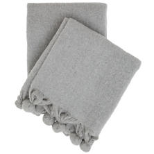 Pom Pom Grey Throw