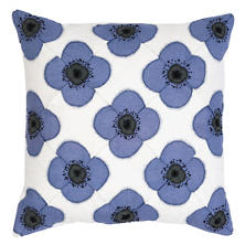 Poppy Blue Decorative Pillow