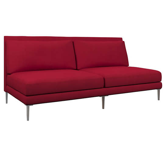 Estate Linen Red Portola Sofa