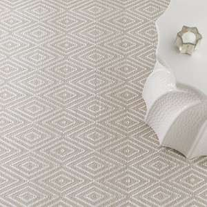 Diamond Platinum/White Indoor/Outdoor Rug