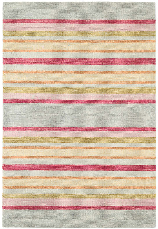 Provence Stripe Micro Hooked Wool Rug