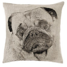Pug Natural Decorative Pillow