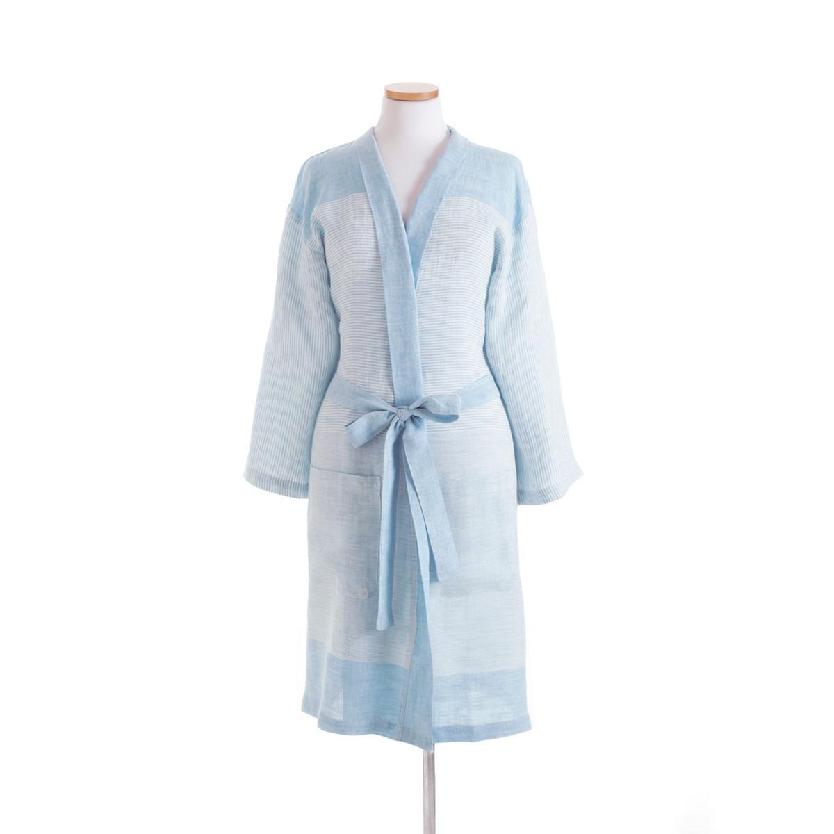 Gardena Linen Stripe Robe