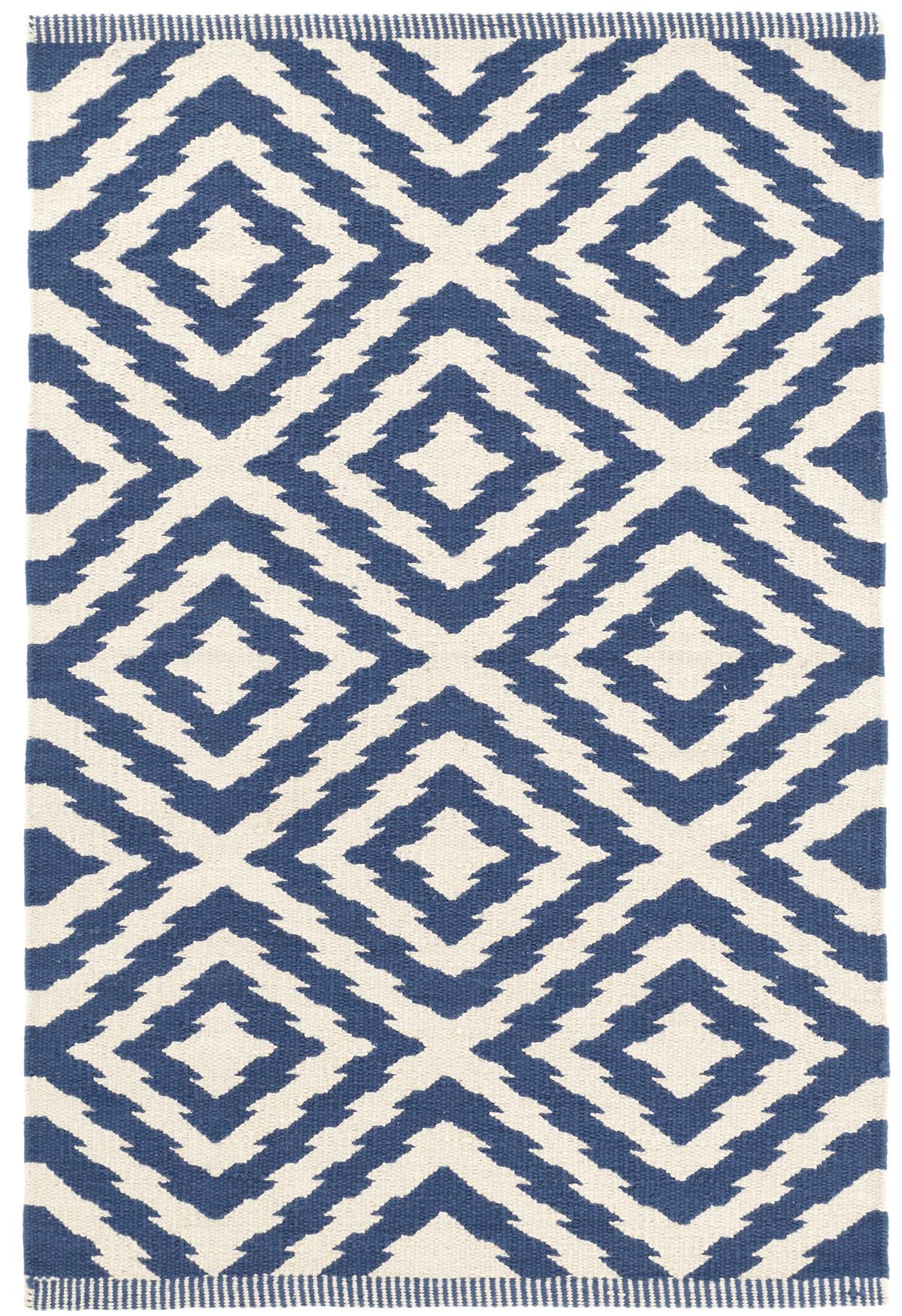 Clover Blue Woven Cotton Rug