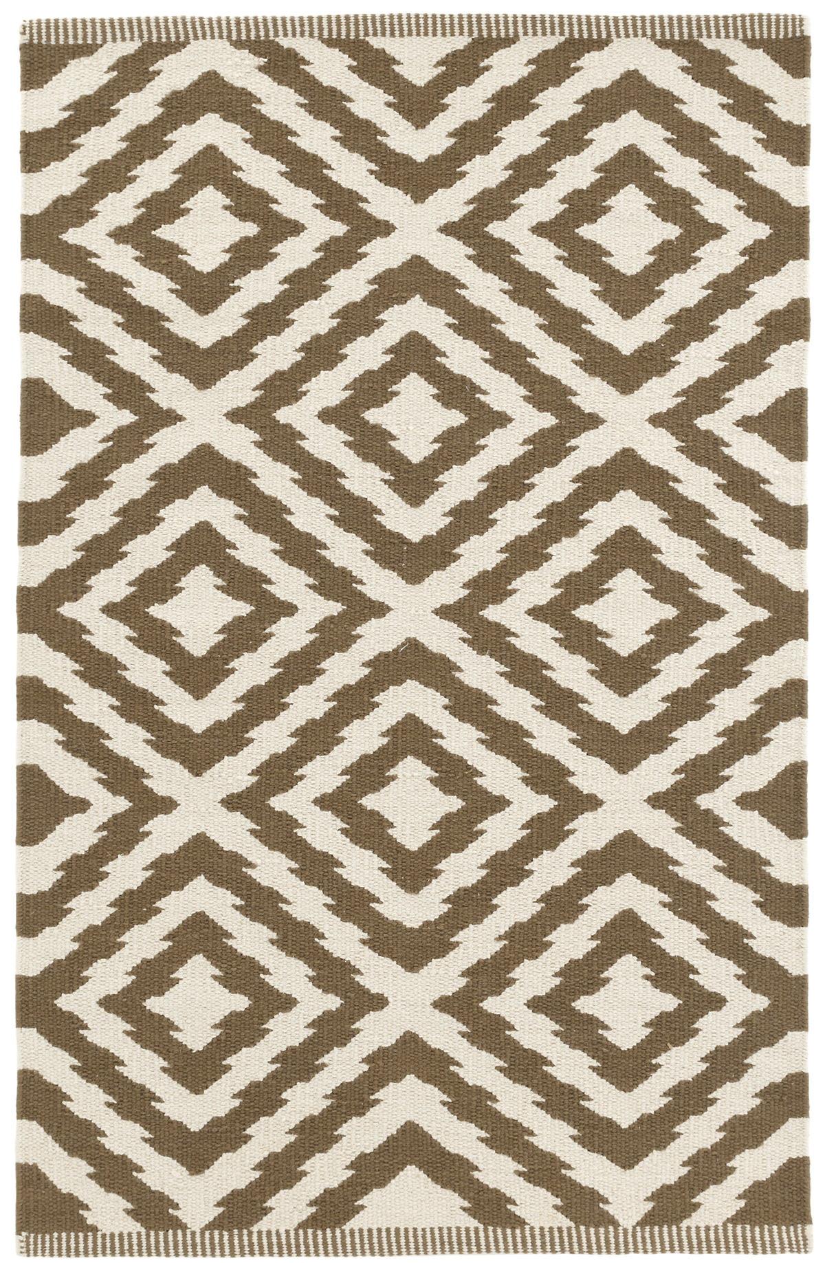 Clover Camel Woven Cotton Rug