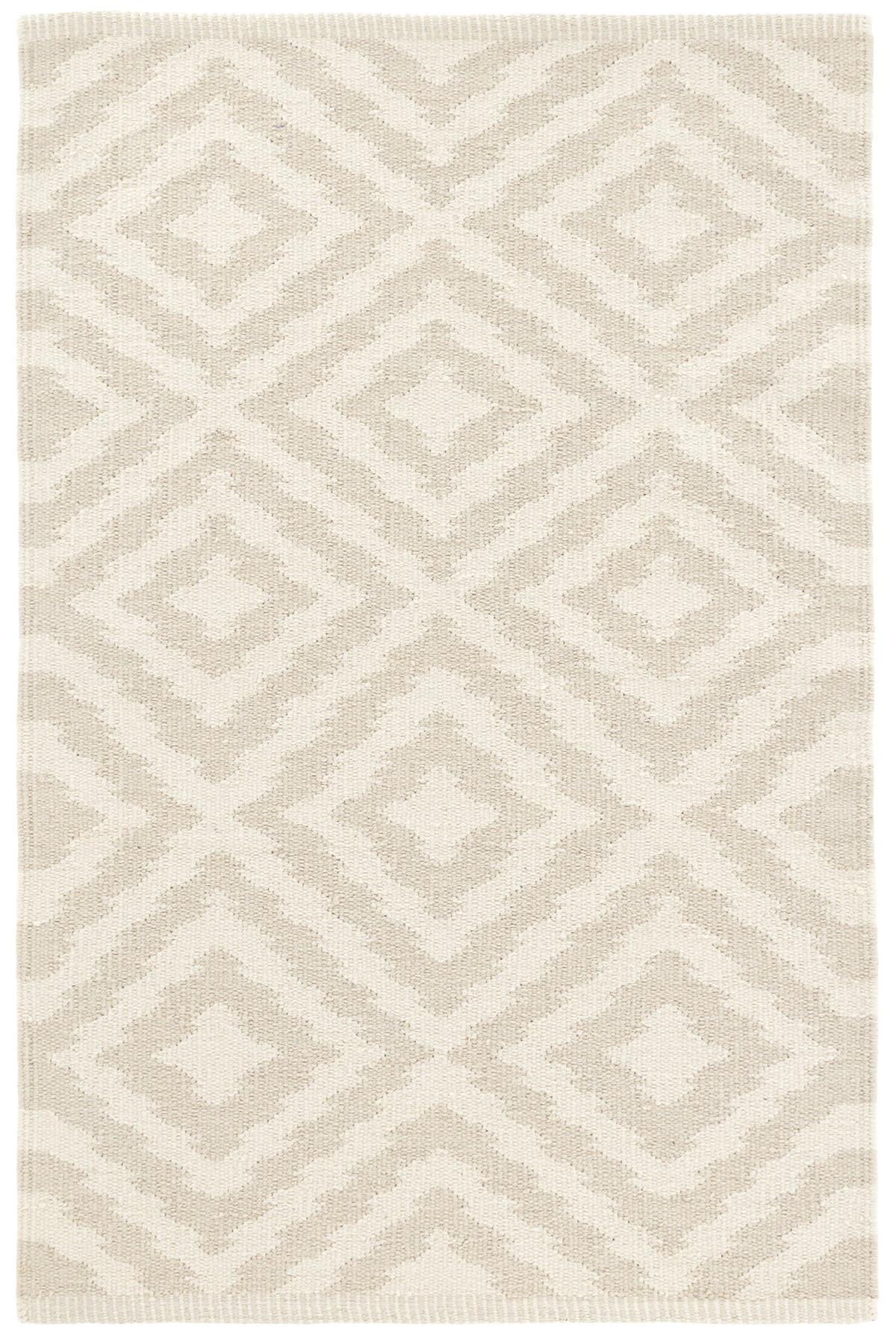 Clover Cement Woven Cotton Rug