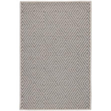 Cress Grey Indoor/Outdoor Custom Rug With Attached Rug Pad
