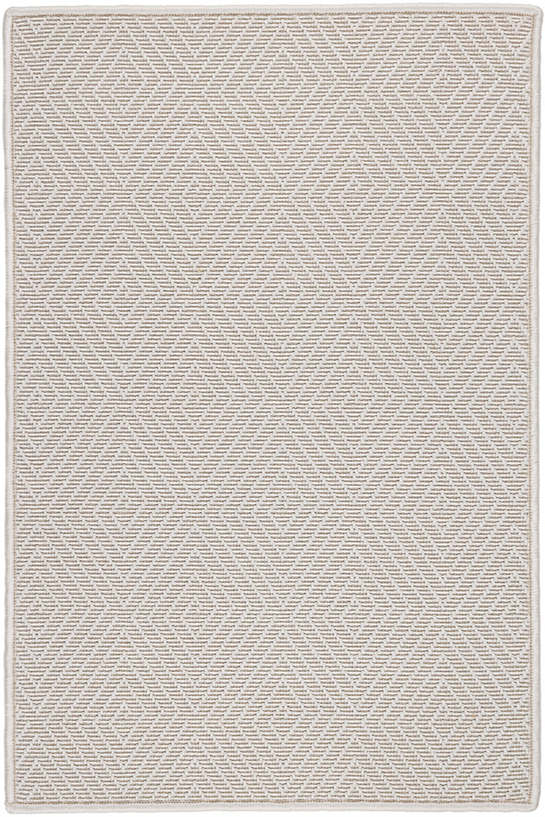 Cress Ivory Indoor/Outdoor Custom Rug With Attached Rug Pad