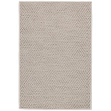 Cress Platinum Indoor/Outdoor Custom Rug With Attached Rug Pad
