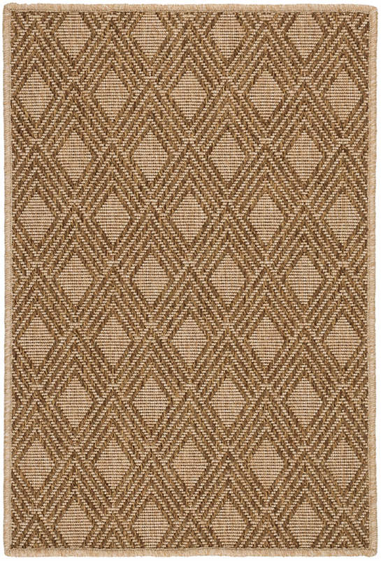 Gingko Bark Indoor/Outdoor Custom Rug With Attached Rug Pad