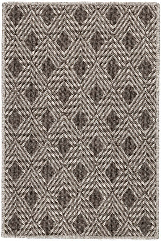 Gingko Greige Indoor/Outdoor Custom Rug With Attached Rug Pad