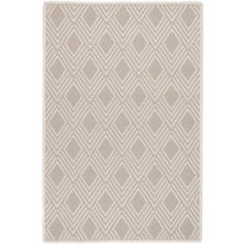 Gingko Platinum Indoor/Outdoor Custom Rug With Attached Rug Pad