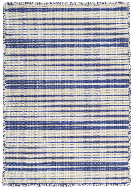 Guilford Cobalt Woven Cotton Rug