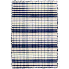 Guilford Navy Woven Cotton Rug